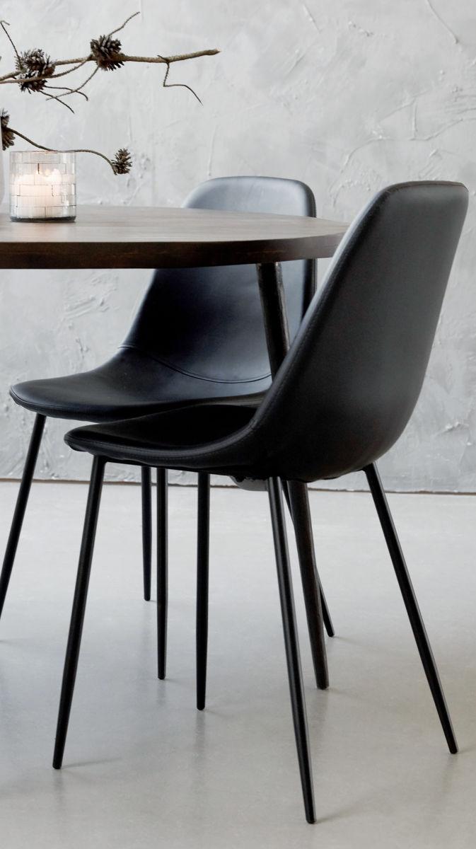 Esszimmer stil ideen schwarzer muschelsitz im skandinavischen stil  zuhause esszimmer