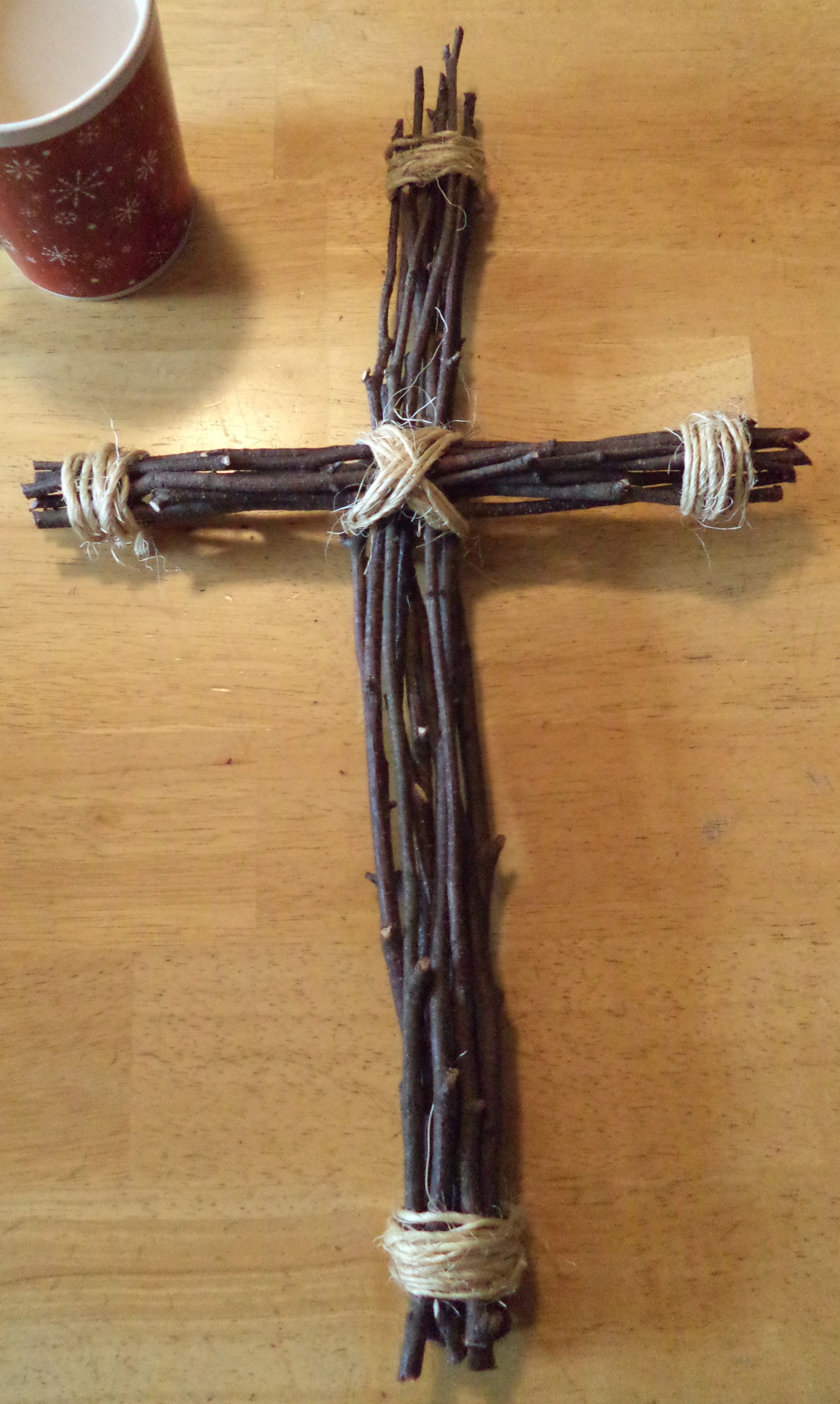 Twig Stick Cross Rustic DecorTwigs Sticks And Twine Crafts Holidays Christmas Easter DIY Nailed It