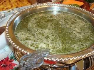 Traditional Middle Eastern Soup Molokhia Egyptian Food Seasonal Cooking Food