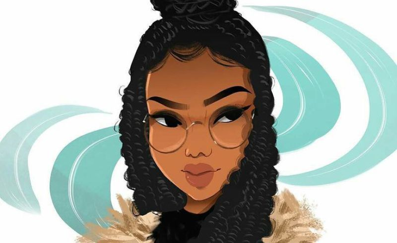 Drawing How To Draw A Black Girl With Curly Hair Step By Step In Draw Afro Hair Long How To Draw Hair Curly Girl Hairstyles Afro Hair Long