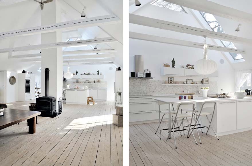 Architecture creamy floor with wooden material white wall and roof also many furniture modern farmer house in south sw don   like the chairs but rest is nice interior design rh pinterest