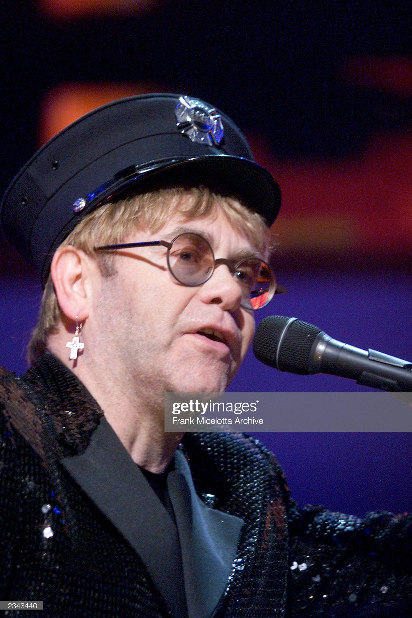 Sir Elton John Onstage Performing At The Concert For New York City To Elton John Onstage Concert