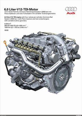 6 0l V12 Audi Tdi Engine Audi Motor Engineering Audi