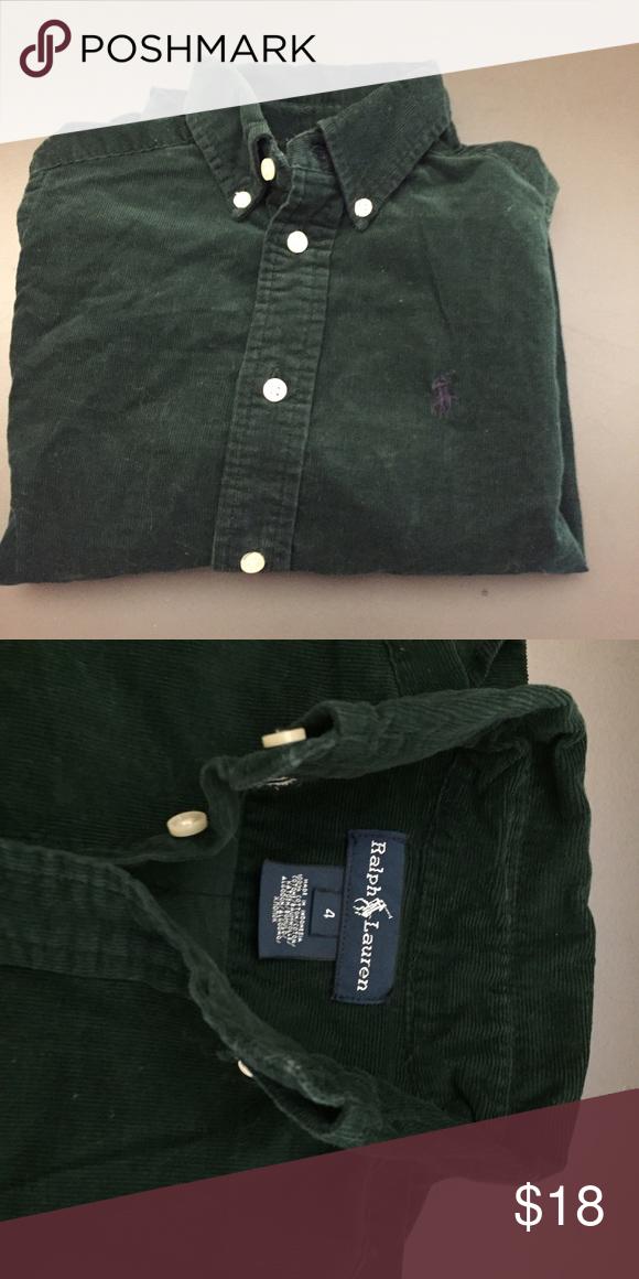 0a23ddc93 Boys button down shirt Great condition boys corduroy dark green shirt by polo  Polo by Ralph Lauren Shirts   Tops Button Down Shirts