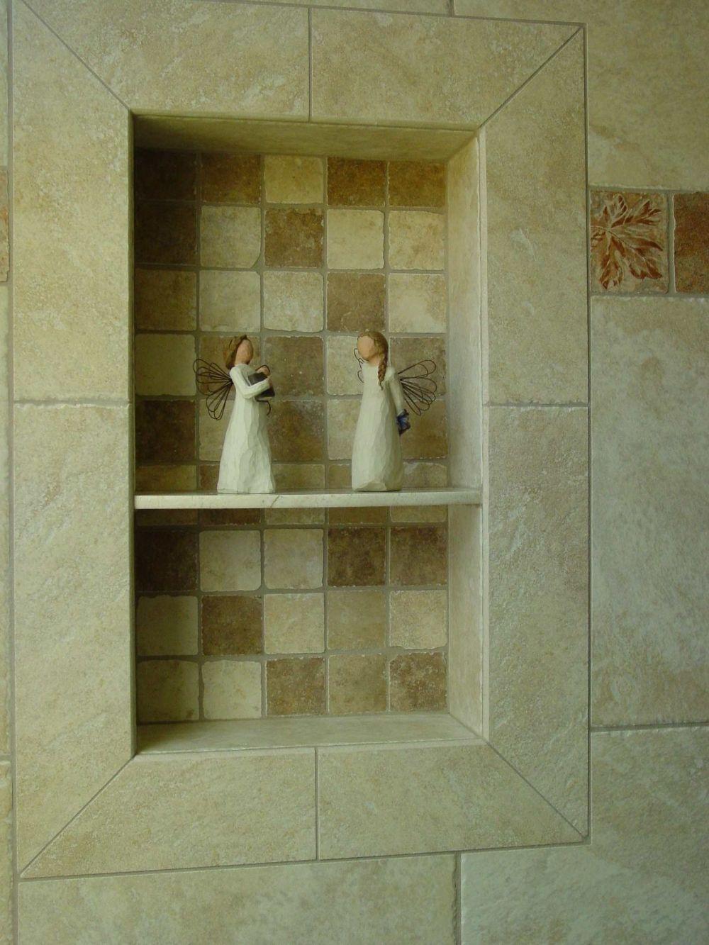 tile shower shampoo niche soap dish