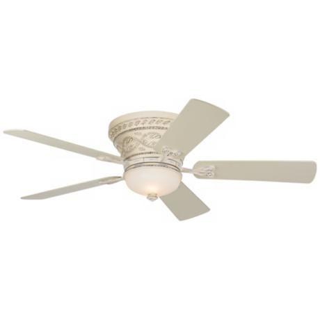 52 Casa Vieja Ancestry White Hugger Ceiling Fan