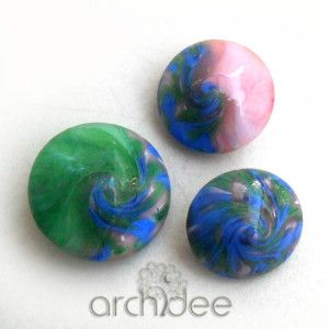 tutorial how to mix oil colors with translucent and white polymer clay to make swirl and other beads step by step photos