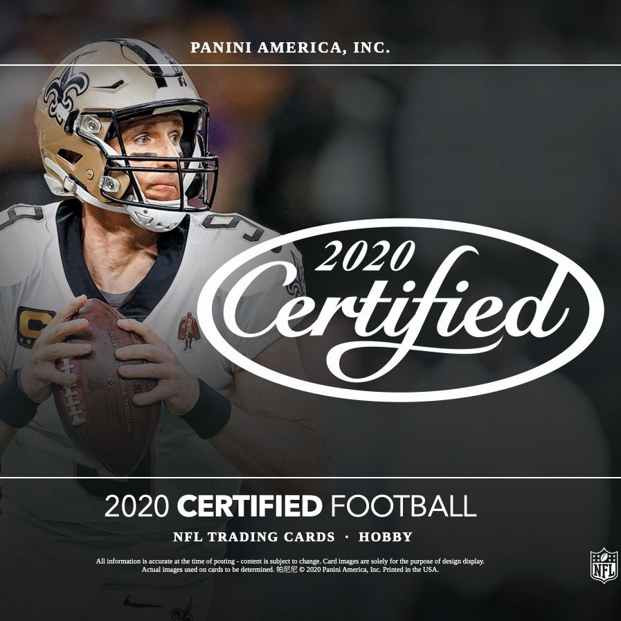 2020 panini certified football checklist nfl boxes