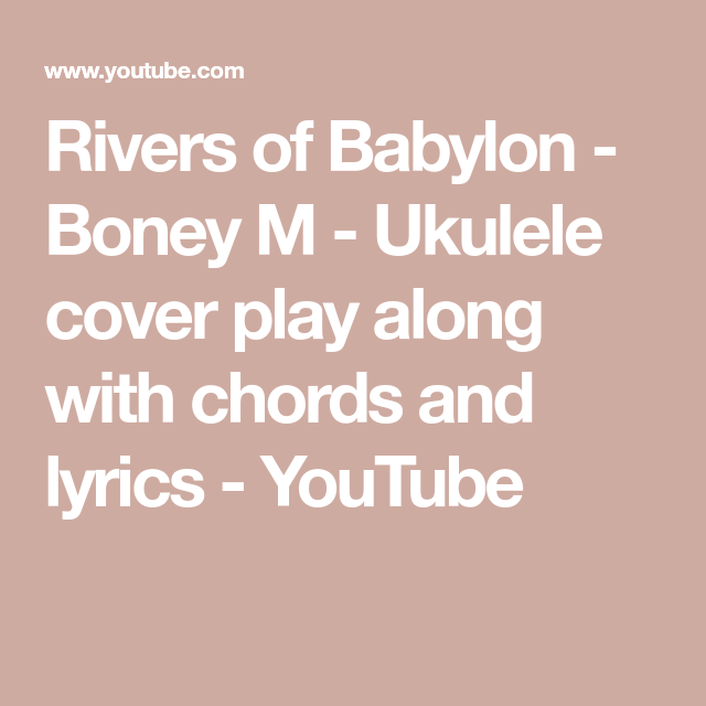 Rivers Of Babylon Ukulele Chords Images Chord Guitar Finger Position