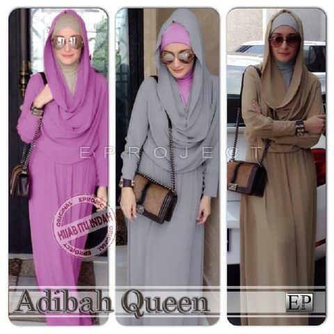 Model Baju Muslim Dewasa Cantik Adibah Queen Kaoskeren