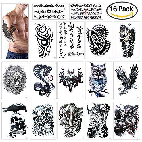 Amazon Com Large Temporary Men Women Tattoos Wolf Tribal Koi Fish Skull Cross Dream Catcher Dr Tattoo Designs Men Best Tattoos For Women Tattoos For Women