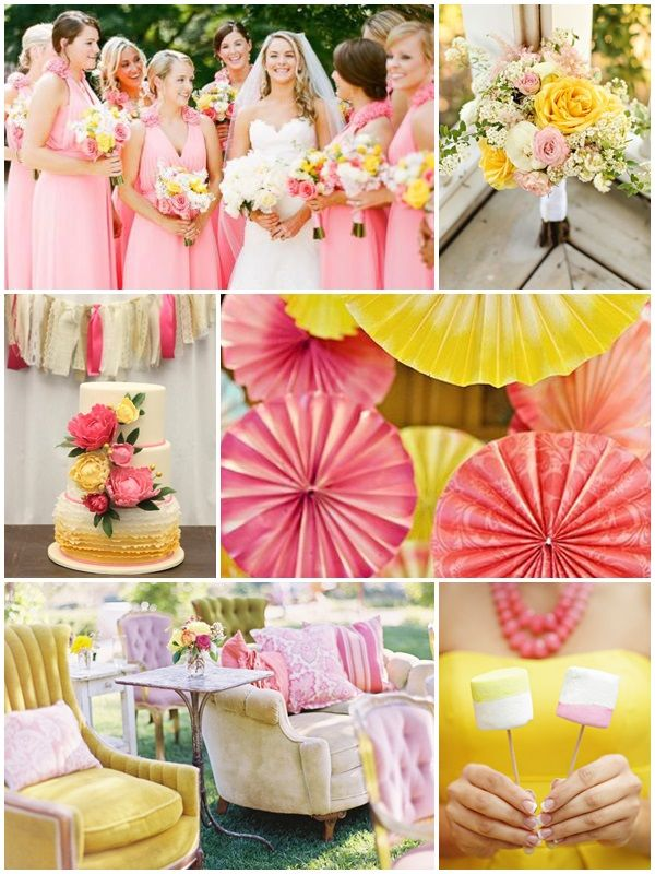 Summer wedding colors can range from bright and bold to light and ...