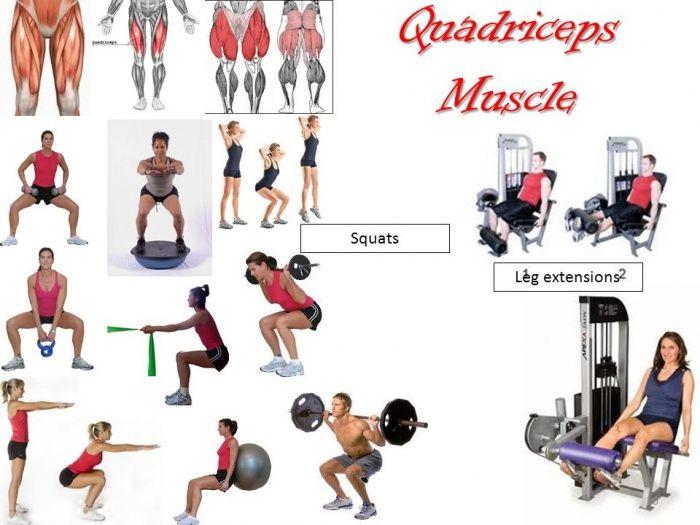 Quadriceps exercises to target different butt leg