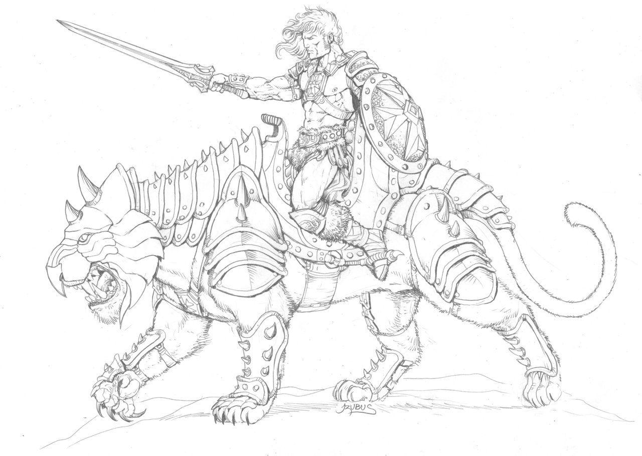 Heman And Battlecat By Rubusthebarbarian On Deviantart 80s Cartoons Cartoon Character Art