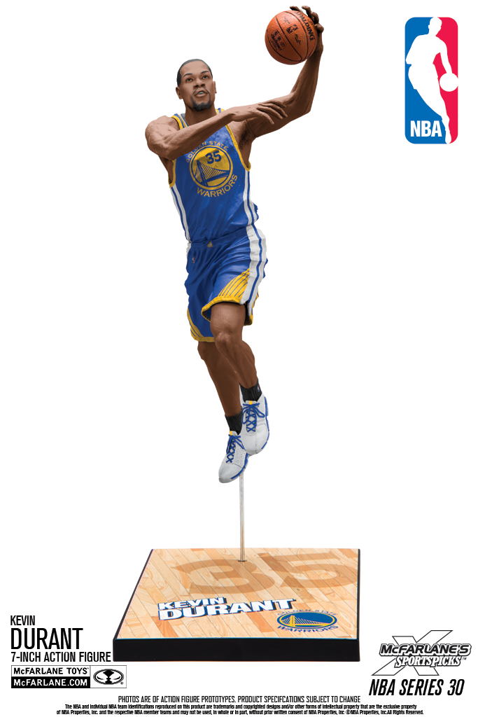 Kevin Durant Golden State Warriors Nba 30 Mcfarlane Action Figures Kevin Durant Nba