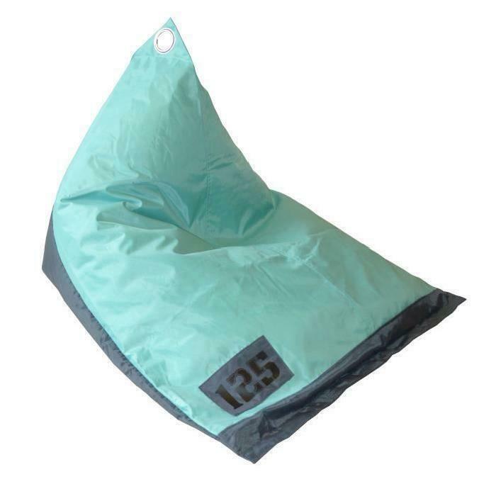 fun pouf poire berlingot bicolore 110x90x80 cm gris et