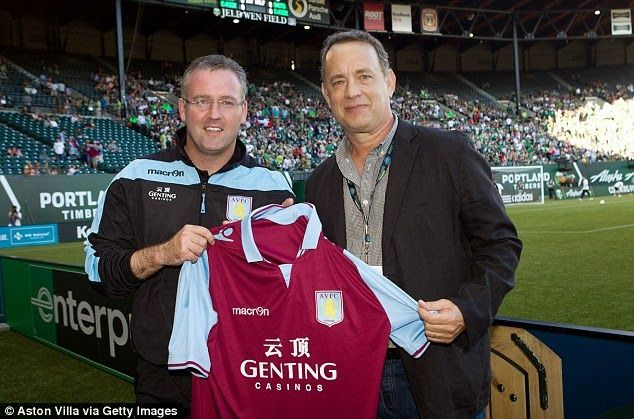 Gimme Something For The Pain: Tom Hanks: Doesn't Aston Villa sound like a lovely...
