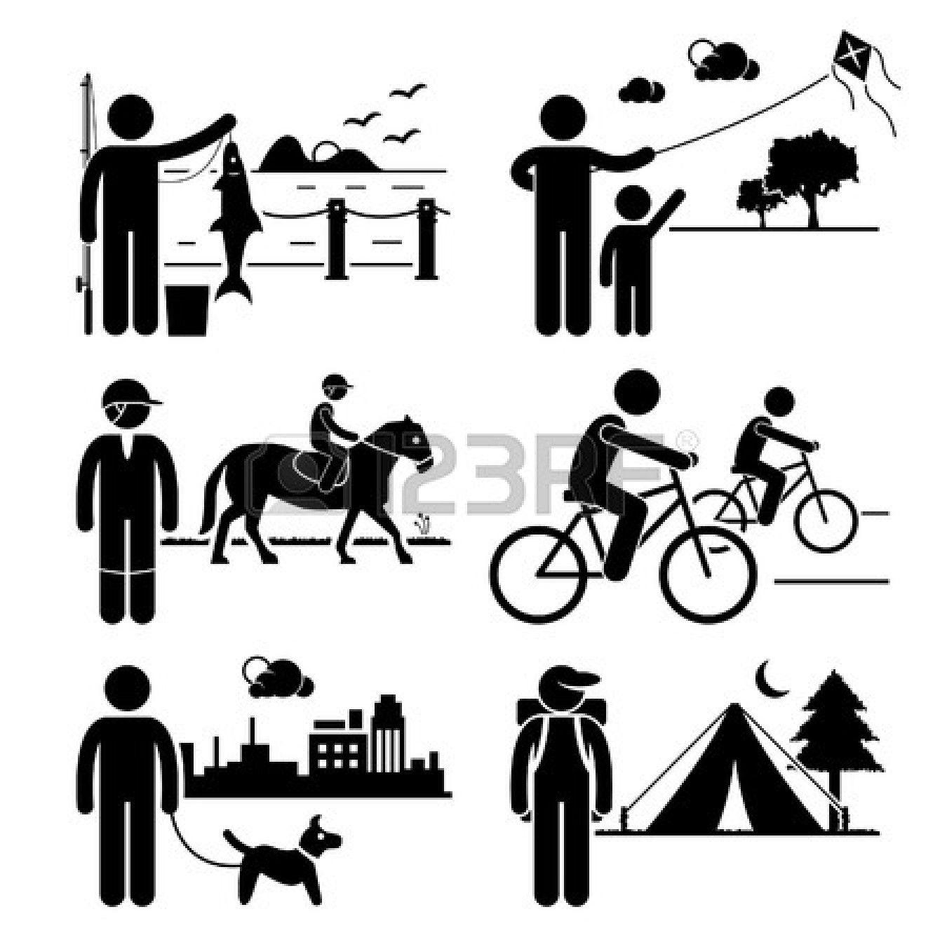 Recreational Outdoor Leisure Activities - Fishing, Kite ...
