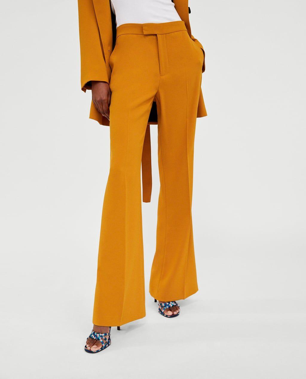 Pantalon Flare Pantalones De Vestir Pantalones Mujer Zara Espana Suits For Women Trousers Trousers Women