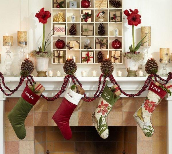 50 Christmas Mantle Decoration Ideas Pottery Barn Christmas