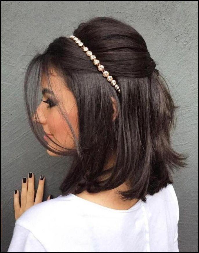 Kurze Frisuren Brautjungfer Frisuren Fur Kurze Haare In Bezug Auf Meine Frisuren Short Wedding Hair Hair Styles Short Hair Updo