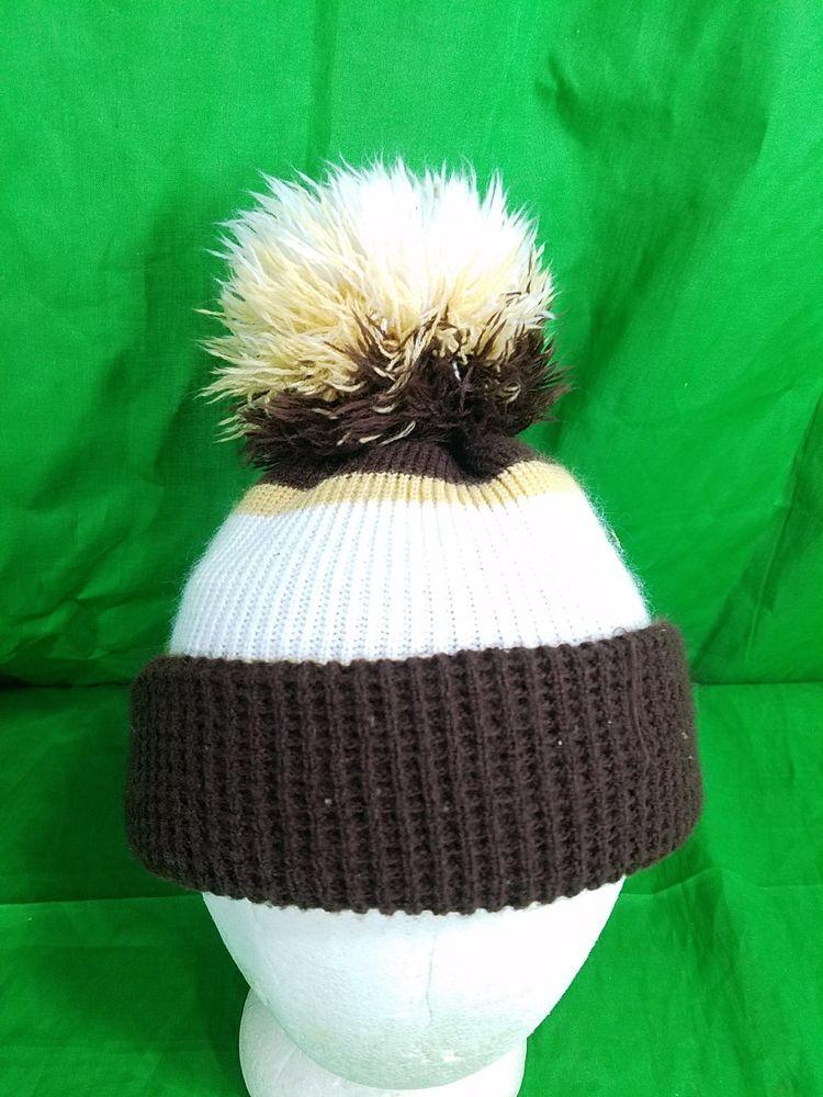 57da2bd46ed Vtg 70s Wigwam Hat USA Made Pom Knit Beanie Toboggan Skull Cap  Wigwam   SkullCap