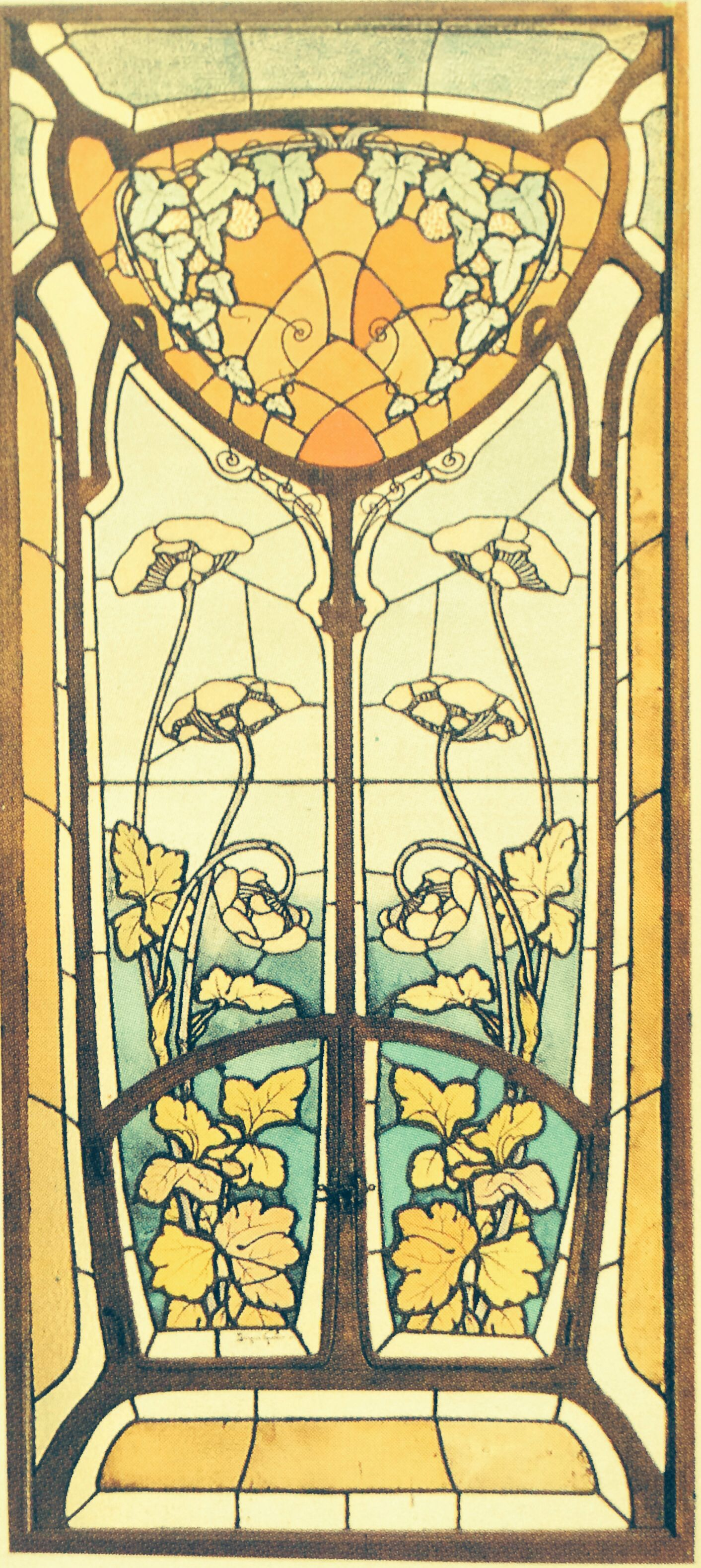 art nouveau stain glass window home renovations pinterest