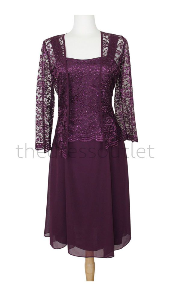 Classic Mother of Bride Groom Short Formal Gown Bridesmaids Wedding ...