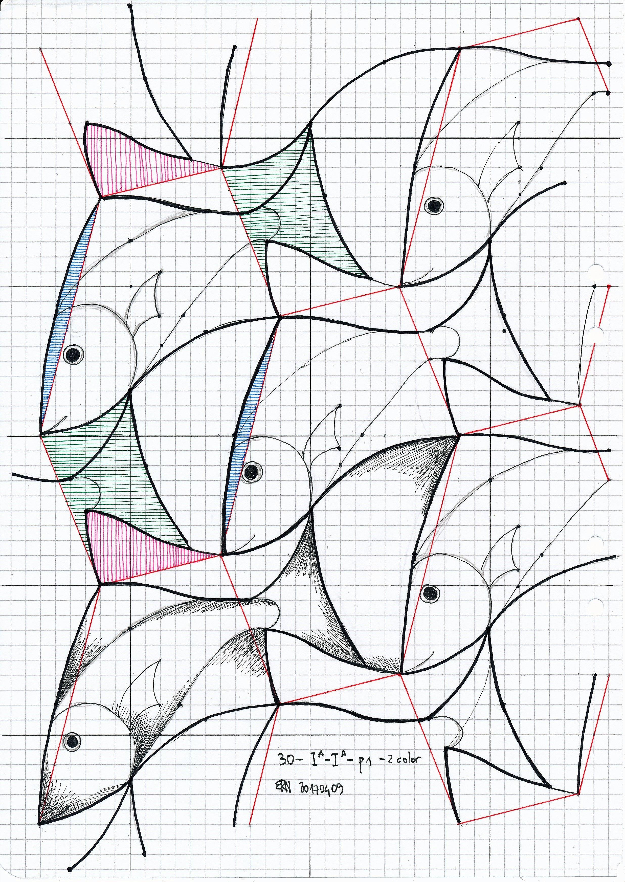 Escher 30 #symmetry #geometry #tessellation #tiling #handmade ...