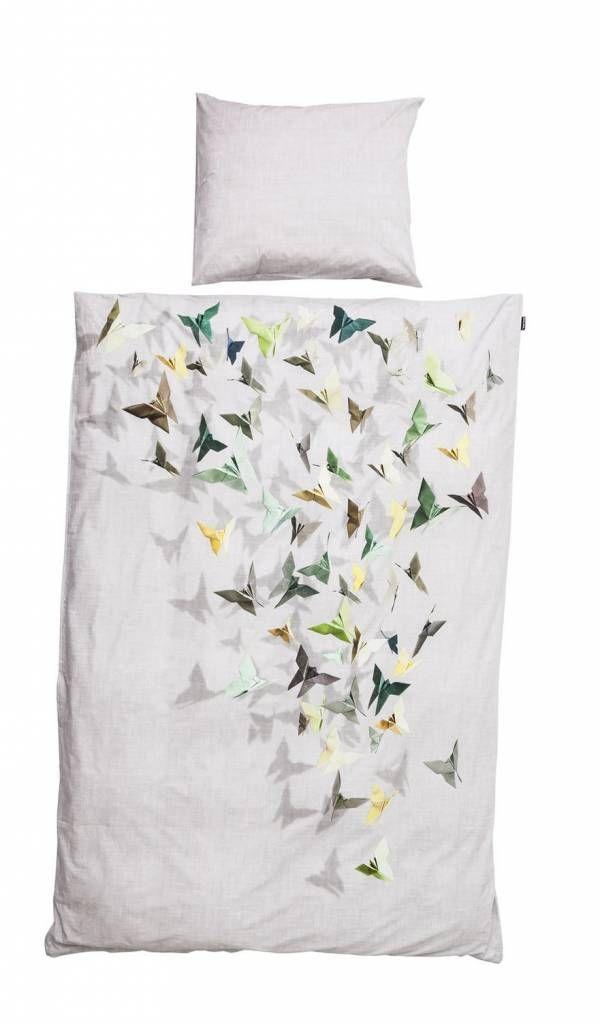 Snurk Housse De Couette Butterfly Coton Blanc 3 Tailles Parure De Lit Housse De Couette Jeux De Housse De Couette