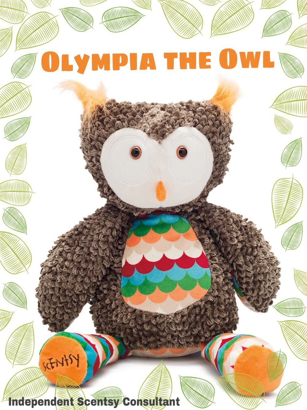 Olympia the Owl limited edition Scentsy Buddy October