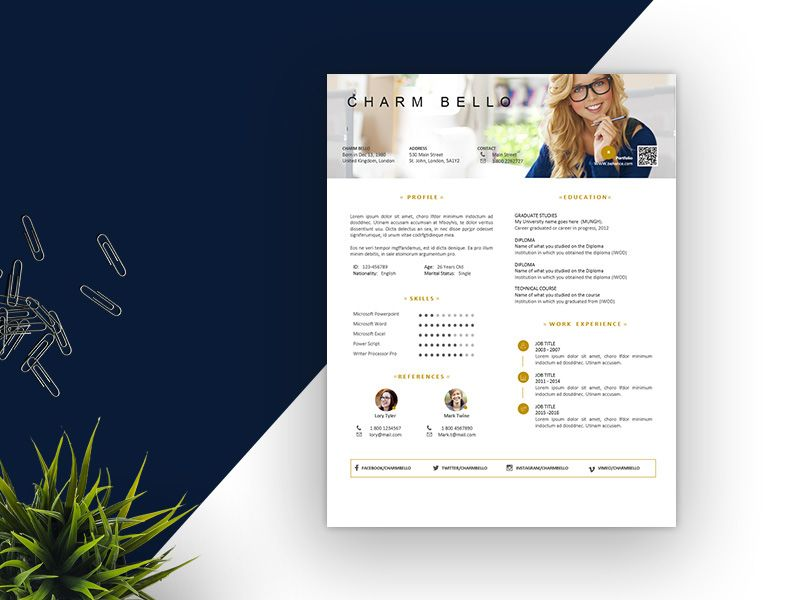 Love this simple, clean resume design! For more resume design - simple resumes