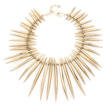 Gold Plated Spikes Necklace by Aurélie Bidermann on GIFTLAB in By Lifestyle - Luxury Jewelry