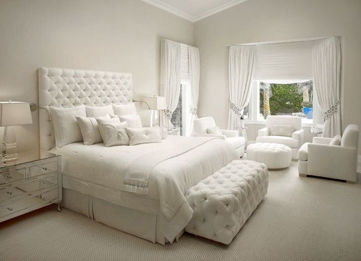 Beautiful Cozy All White Bedroom Decor Cozy Bedroom Dream Bedroom Gorgeous Bedroom Decor Cozy Bedroo Luxurious Bedrooms Luxury Bedroom Design Bedroom Interior