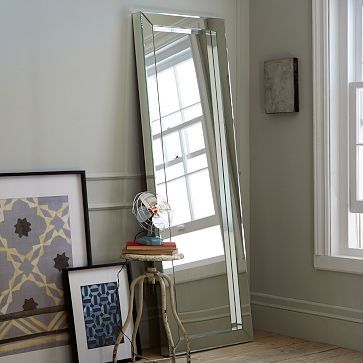 Parsons Floor Mirror Mirrored Westelm Great For A Bedroom