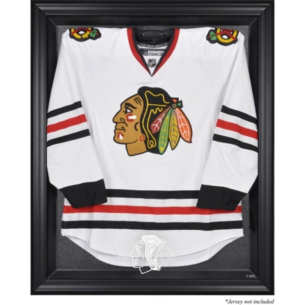 Chicago Blackhawks Black Framed Logo Jersey Display Case   Sports ...