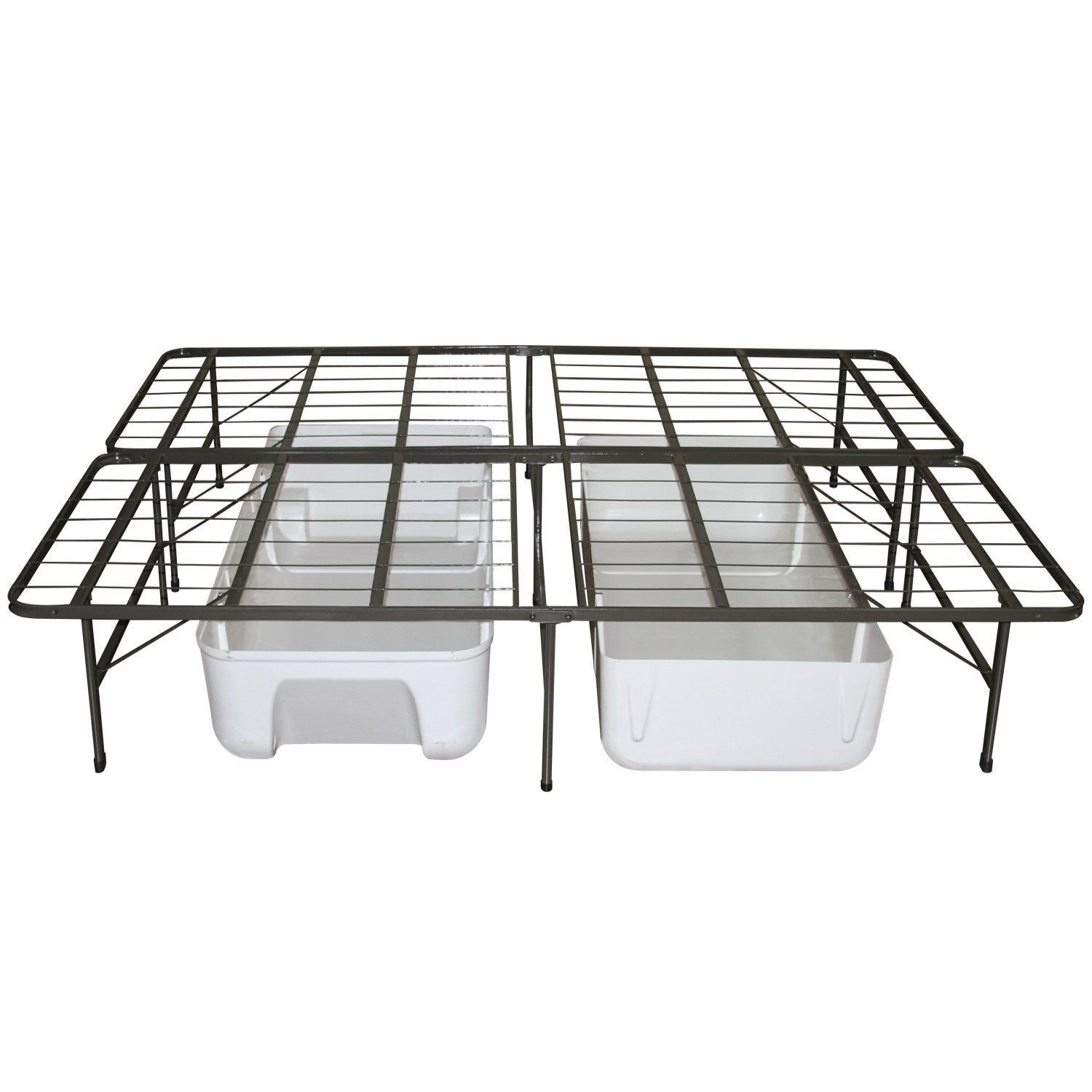Twin Extra Long Metal Platform Bed Frame with Storage Space ...