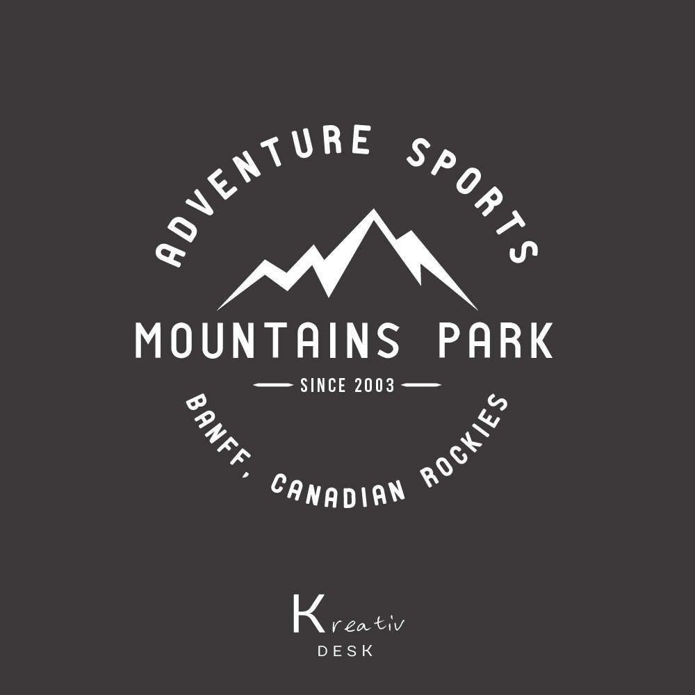 mountain logo sport logo design adventure logo vintage logo