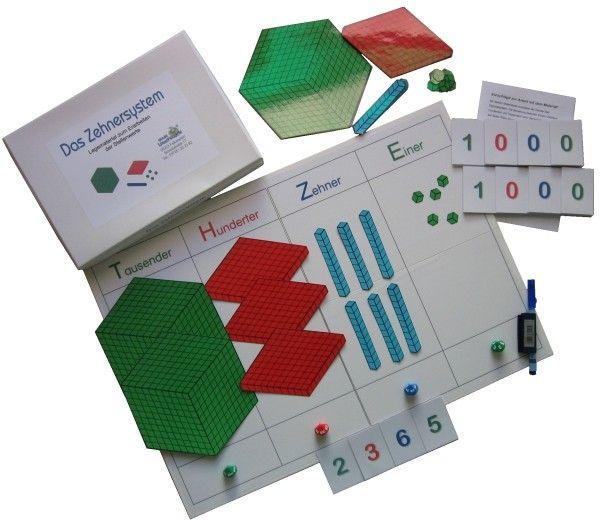 Stellenwert-Spiel in Montessori-Farben www.lernspielkiste.de | Mathe ...