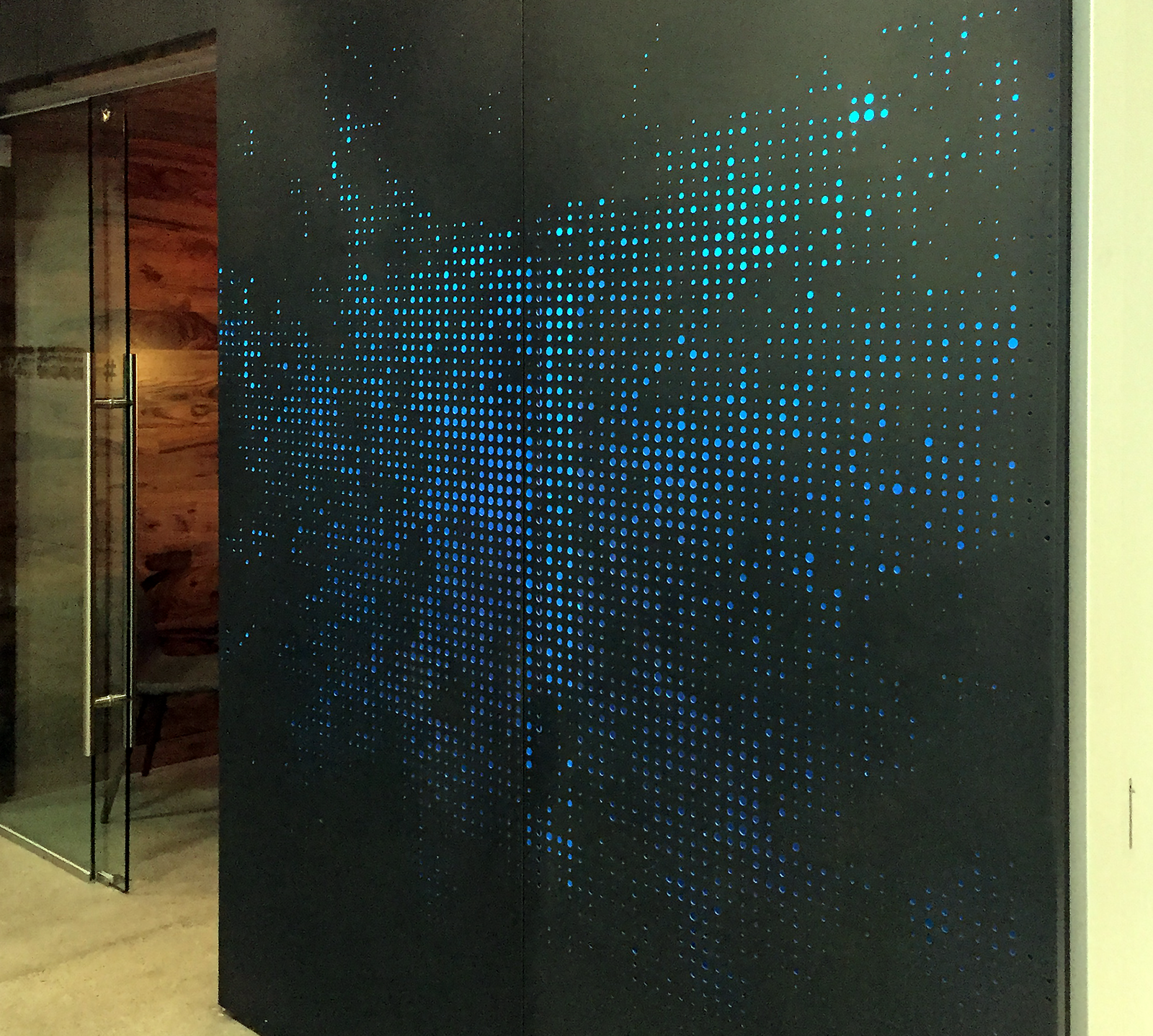 twitter office in san francisco. Custom Perforated Painted Aluminum Screens And Wall Panels For Twitter HQ\u0027s Corporate Office Space In San Francisco, CA, USA | Designed By Bohlin Cywinski Francisco