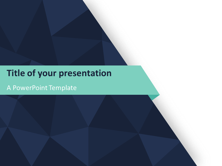Abstract Triangle Pattern Powerpoint Template Presentationgo Com