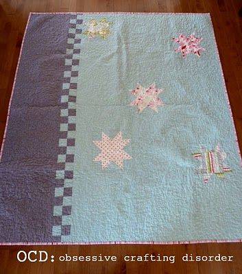 I love this quilt back!