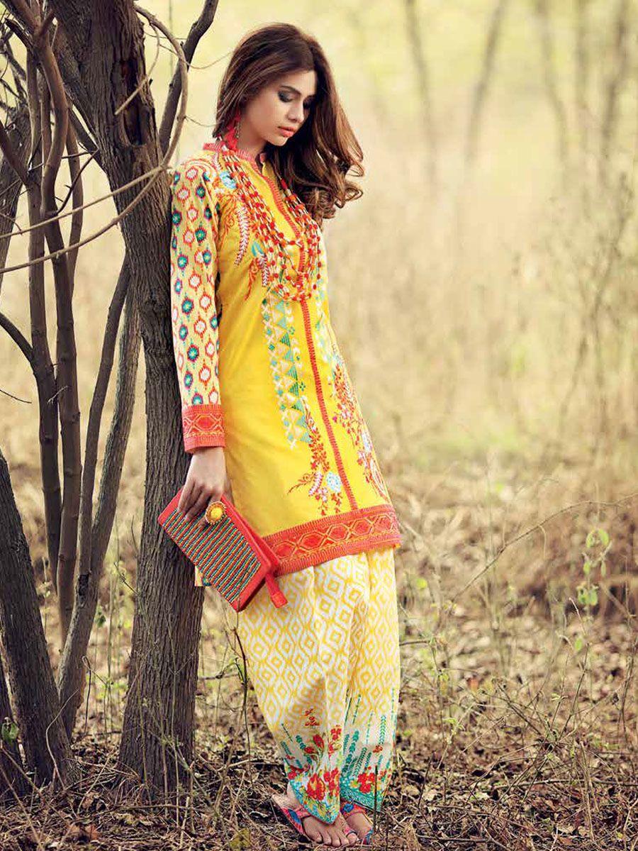 35b615fab5 Gul Ahmed Gypsy Folk Lawn 2Pc Collection | Pakistani suits in 2019 ...