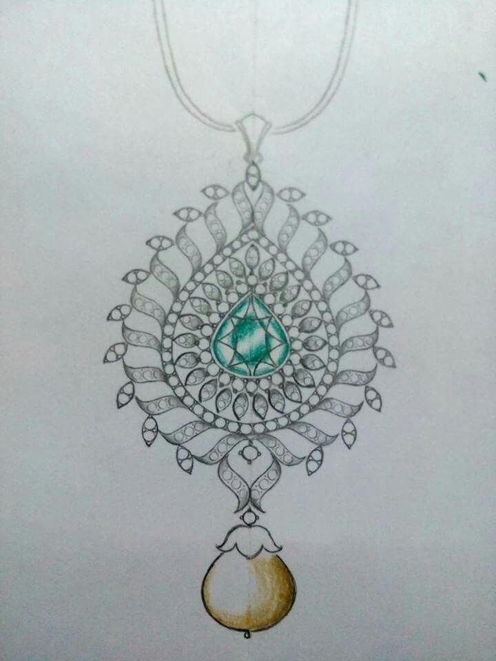 Pin By Ajay Rathi On Pendants Jewelry Drawing Jewellery