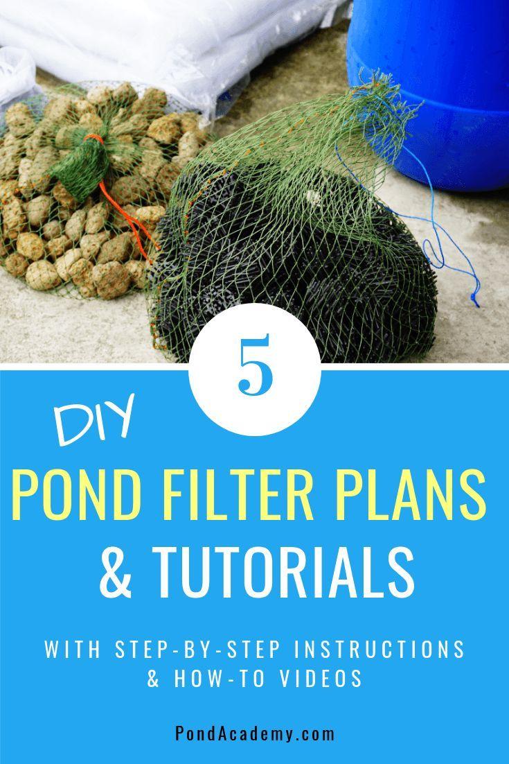diy pond fountain filter