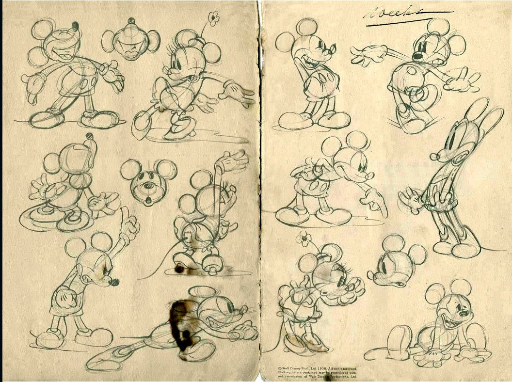Mickey & Minnie Sketches … | Pinteres…