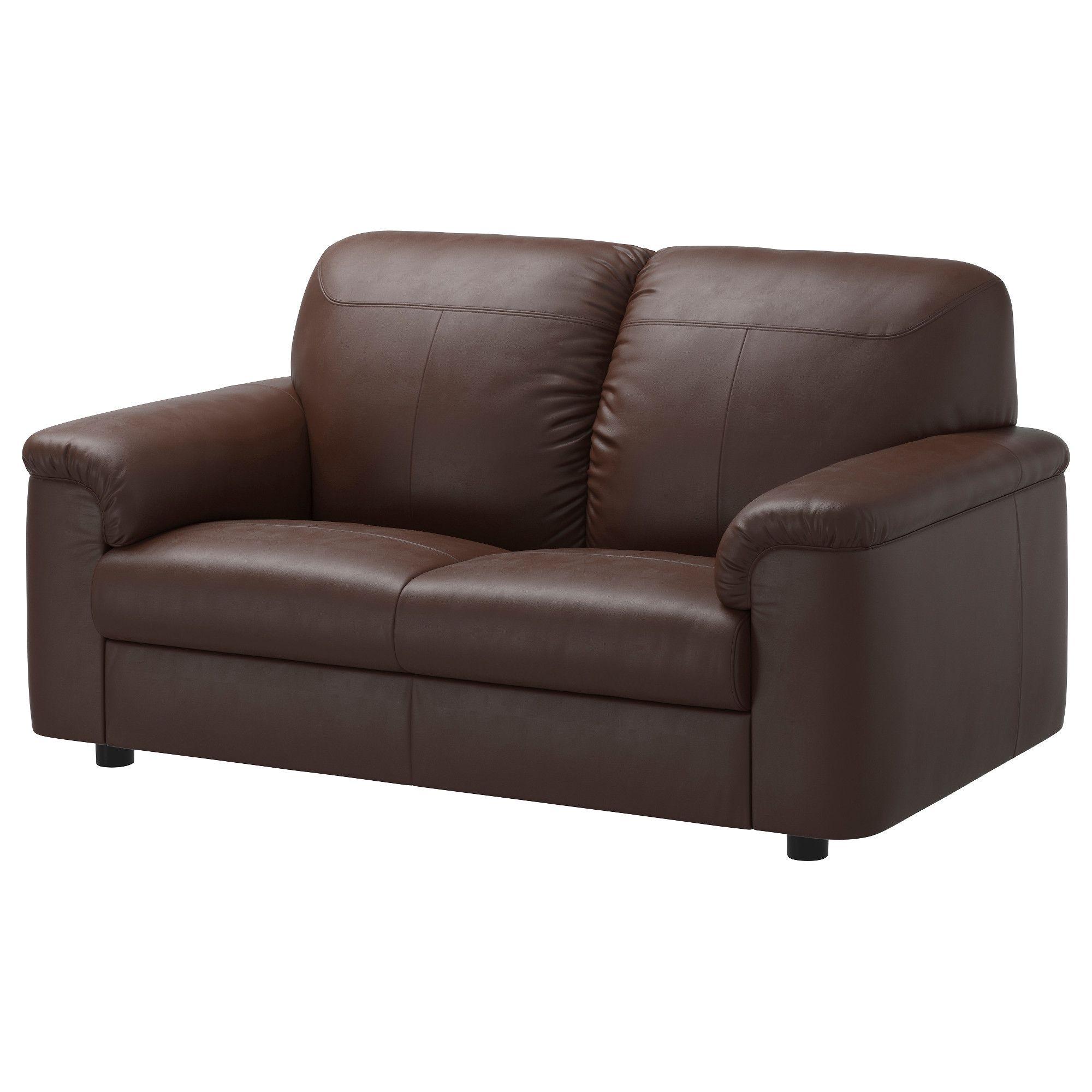Ikea Timsfors Two Seat Sofa Mjuk Kimstad Dark Brown