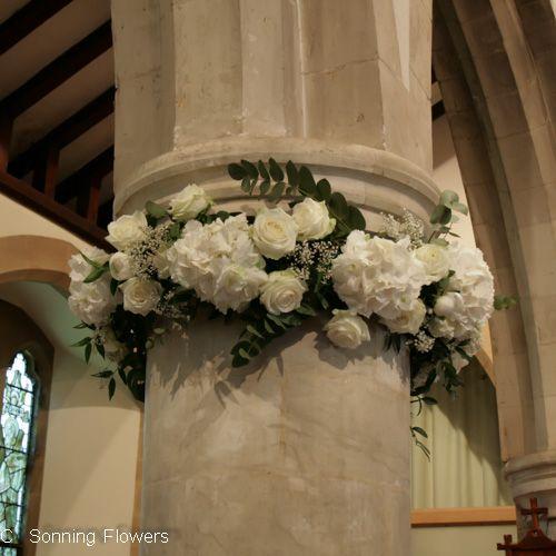 Greek Wedding Altar: Like These Pillar Flowers (zoe)