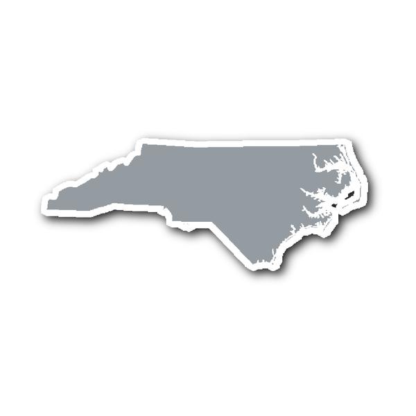 North Carolina State Shape Sticker Outline Black State Shapes North Carolina Carolina Blue