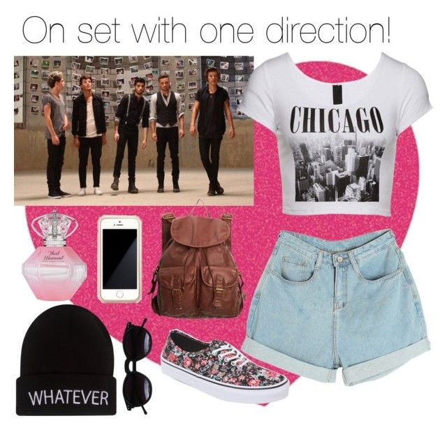 """On set with one direction! :)"" by fergie21 ❤ liked on Polyvore featuring Tattly, Vans, dELiA*s, Wet Seal, Squair and Chicnova Fashion"